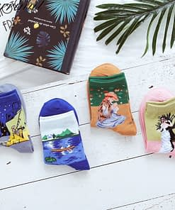 Women Socks With Funny Design and Fabulous Painting Artwork Pattern
