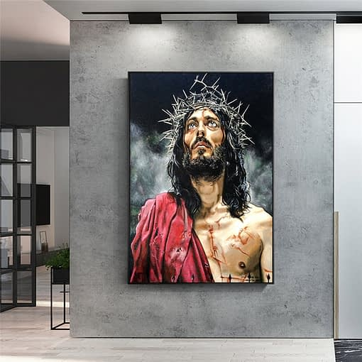 Abstract Painting of Jesus - Prints on Canvas