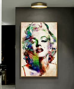 Abstract Canvas Art Famous Star Marilyn Monroe - Print on Canvas