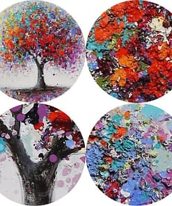 Beautiful Abstract Colorful Tree Painting, Prints on Canvas