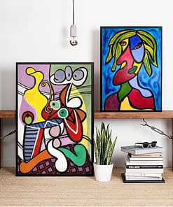 Cross Stitch Picasso Painting 5D Women Diamond Home Decor Abstract Picture Embroidery Graffiti Pattern Wall Art Full Round Drill