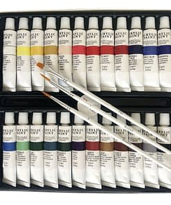 Acrylic Paint Set 24 Color Tubes of 0.4 oz (12 ml) Art Set for Kids Students Painting Canvas