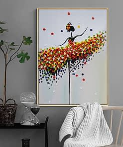 Abstract Ballet Girl Colorful Oil Painting on Canvas Dance Posters Prints Scandinavian Wall Art Picture for Living Room Cuadros