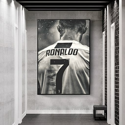 Football Sport Star Cristiano Ronaldo Retro Poster and Print Sport Canvas Painting Room Wall Art Picture Cuadros Home Decoration