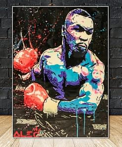Mike Tyson's Street Graffiti Art, The Most Dangerous Boxer in History, Printed on Canvas