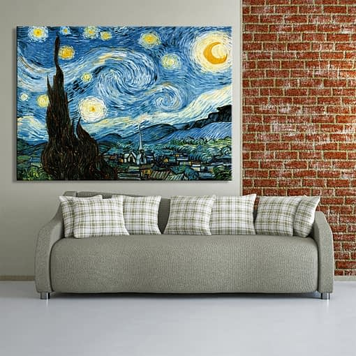 Famous Art Painting Van Gogh Starry Night Prints on Canvas