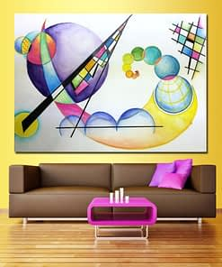 JQHYART Surrealism Wassily Kandinsky Canvas Art Oil Painting Moder Home Decor Picture Wall Pictures For Living Room No Frame
