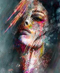 Colorful Woman Portrait Graffiti Art Posters Print Abstract Nordic Girl Canvas Paintings On The Wall Art Pictures For Home Decor