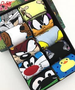 10 pairs/lot Casual Socks for Men and Women with Cartoon Pattern