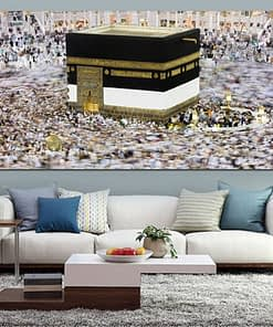 Modern Print Mecca Islamic Jan 2 People View Muslim Mosque Landscape Painting On Canvas Religious Art Cuadros Home Wall Decor