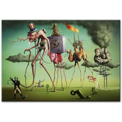 """The American Dream"" by By Salvador Dali Wall Art Canvas Paintings Famous Artwork Reproductions Wall Pictures For Living Room"