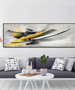 Modern Style Oil Painting, Abstract Art with a Beautiful Color Blend Printed on Canvas