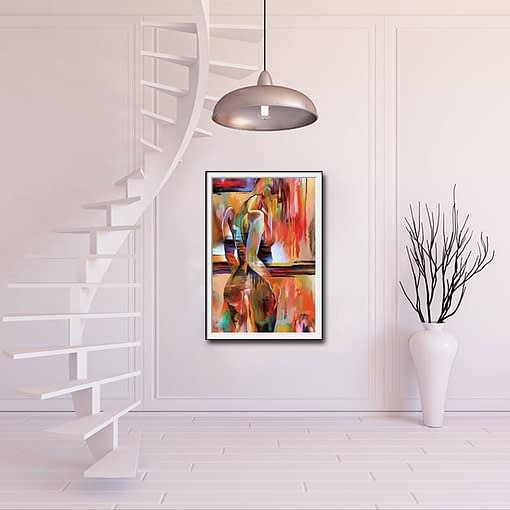 Abstract Attractive Woman Oil Painting HD Print Wall Art Pictures Charm Woman Canvas Painting For Home Decor Sex Woman Poster