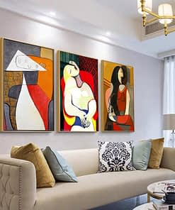 Abstract Modern Painting Home Decoration Posters and Prints Frameless Wall Art Picasso Canvas Picture for Home Design