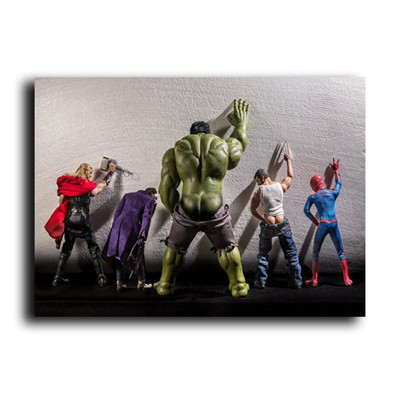 Funny Superheros Posters and Prints Comics Movie Quadro Canvas Painting Cuadros Wall Art Picture for Living Room Home Decoration