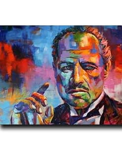 Movie Godfather Posters and Prints Colorful Portrait Canvas Painting Wall Art Picture for Living Room Home Decoration Cuadros