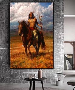 Art Painting Native Indian Landscape Prints on Canvas