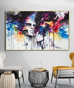 Street Art Graffiti Canvas Art Wall Paintings Couple Of Lover Posters And Prints Portrait Canvas Prints For Living Room Cuadros