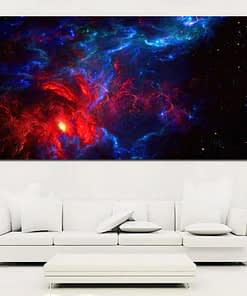 Canvas Art Outer Space View Nebula, Shining Stars, Cloud of Gas and Dust - Prints on Canvas